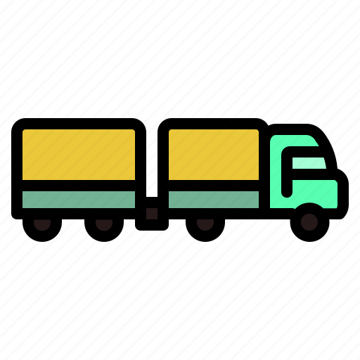 container, rectangular, transport, truck, wheels icon