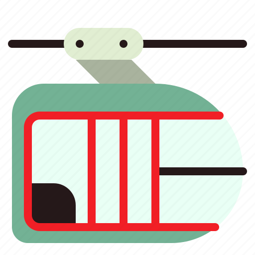 cabin, cable, car, tramway, transport, transportation icon