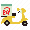bike, delivery, shipping, transport, transportation icon
