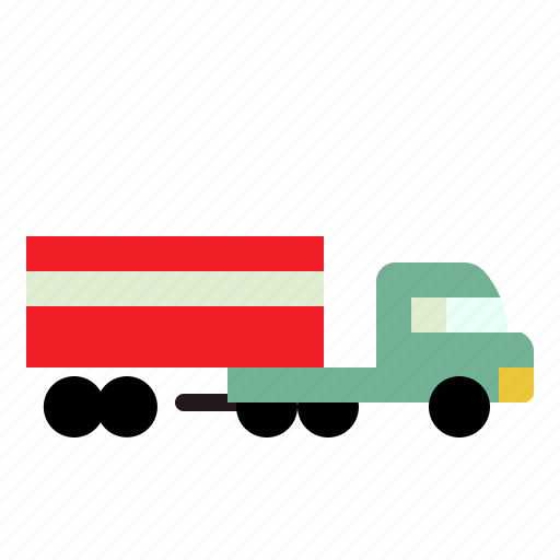 cargo, transport, truck, vehicle icon