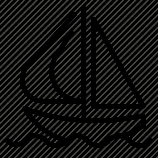 boat, sailboat, sailing, transport, transportation icon