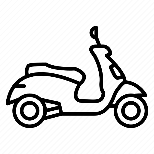 Motorbike, motorcycle, scooter, transportation icon - Download on Iconfinder