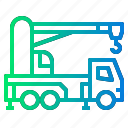 cart, crane, cranes, tools, truck icon