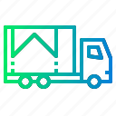 cargo, delivery, shipping, storage, truck icon
