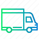 delivery, distribution, transport, van, vehicle icon