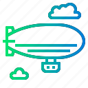 air, balloon, hot, ship, zeppelins icon
