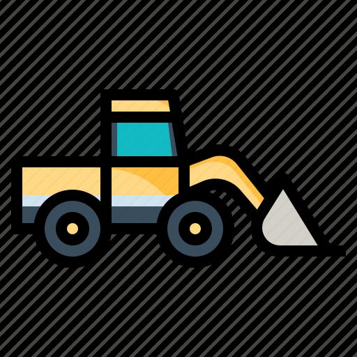 bulldozer, construction, excavator, tools, truck icon