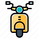 motorbike, motorcycle, scooter, transportation0a, vespa icon