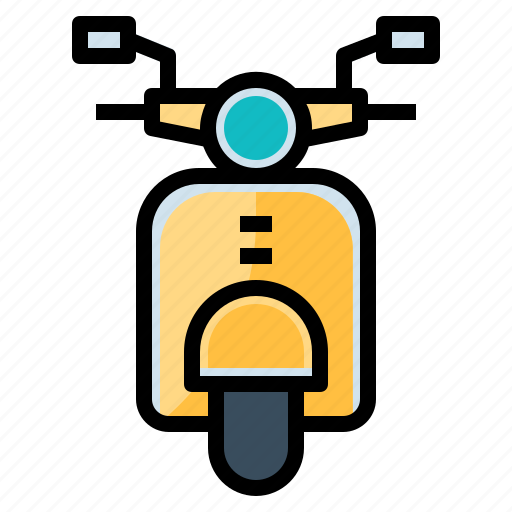 motorbike, motorcycle, scooter, transportation0a, vespa icon
