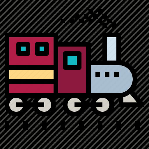 Locomotive, logistics, railway, toys, train icon - Download on Iconfinder