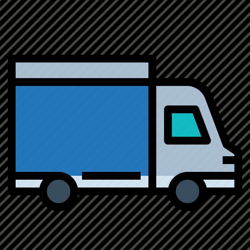 Delivery, distribution, transport, van, vehicle icon - Download on Iconfinder