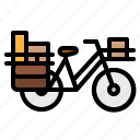 bike, postman, touring, transport, vehicle icon