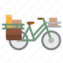 bicycle, postman, touring, transport, vehicle