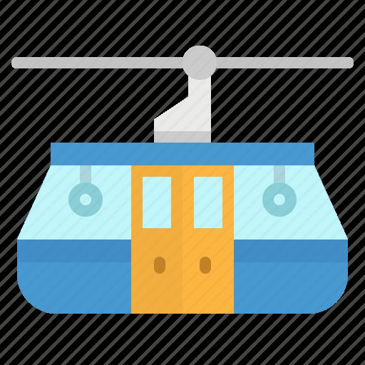 cabin, car, resort, ski, transportation icon
