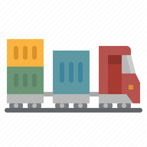 cargo, delivery, train, transport, transportation icon