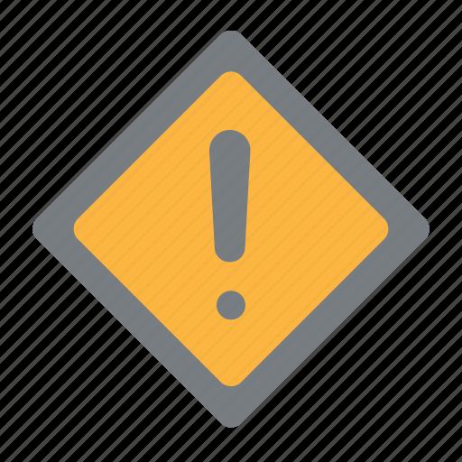 Alert, sign, traffic, warning icon - Download on Iconfinder