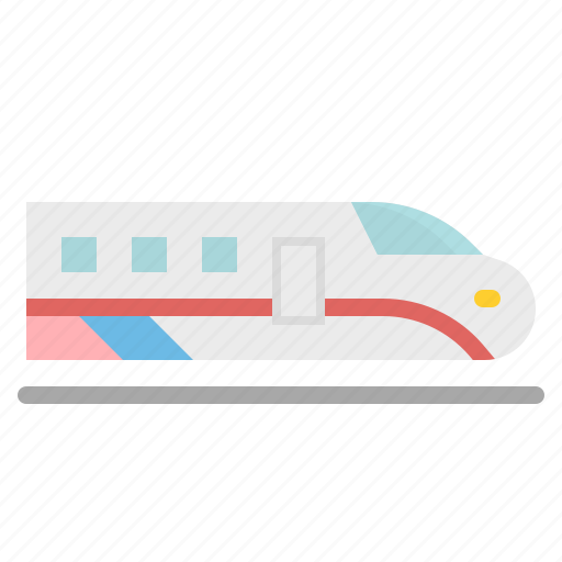 high, speed, train, transport, transportation icon
