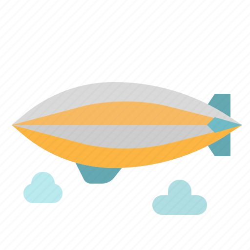 aircraft, flying, hydrogen, transportation, zeppelin icon