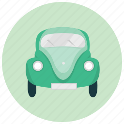 bug, car, front, old, transportation, vehicle icon
