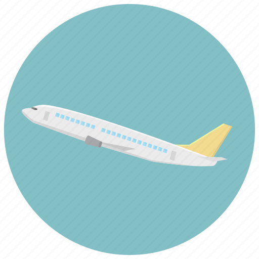 distance, flying, plane, speed, transportation icon