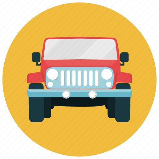 jeep, mountain, trails, transportation, vehicle icon