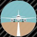 distance, flight, plane, runway, startline, transportation