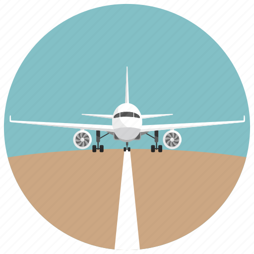 distance, flight, plane, runway, startline, transportation icon