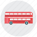bus, decker, double, london, transportation, vehicle icon
