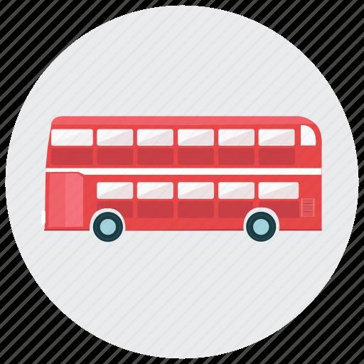 bus, decker, double, london, transportation, vehicle icon