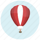 balloon, hotair, ride, transportation, trip icon