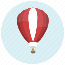 balloon, hotair, ride, transportation, trip icon
