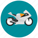 motorcycle, speed, style, transportation, vehicle icon