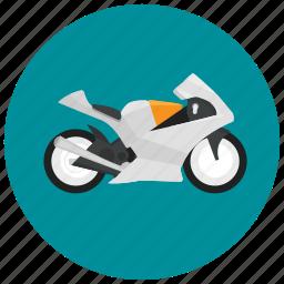 motorcycle, speed, style, transportation, vehicle icon