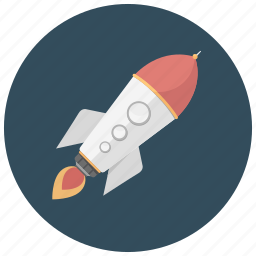 flame, rocket, ship, space, transportation icon