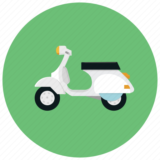 distance, rise, scooter, short, speed, transportation icon