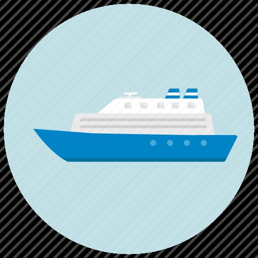 cruise, ocean, sea, ship, transportation icon