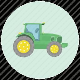 equipment, farm, farmer, tractor, transportation icon