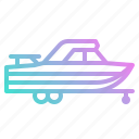 boat, ship, trailer, transport, vehicle