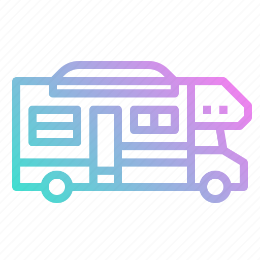 camper, recreational, transport, van, vehicle icon