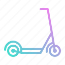 kick, kickboard, scooter, transport, transportation