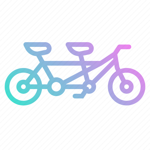 Bicycle, romantic, sport, tandem, transport icon - Download on Iconfinder
