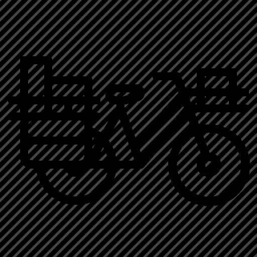 bicycle, postman, touring, transport, vehicle icon