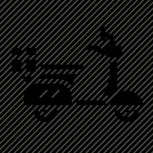 motorbike, motorcycle, ransport, scooter, vespa icon