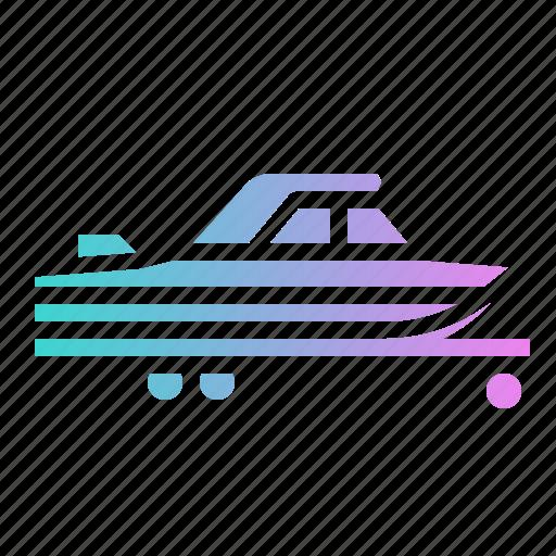 Boat, ship, trailer, transport, vehicle icon - Download on Iconfinder