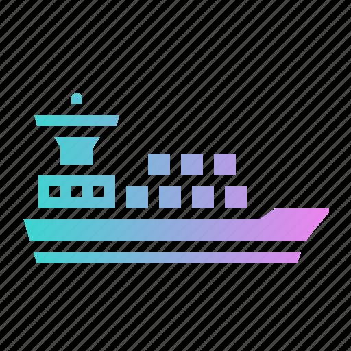 Boat, cargo, distribution, ship, transport icon - Download on Iconfinder