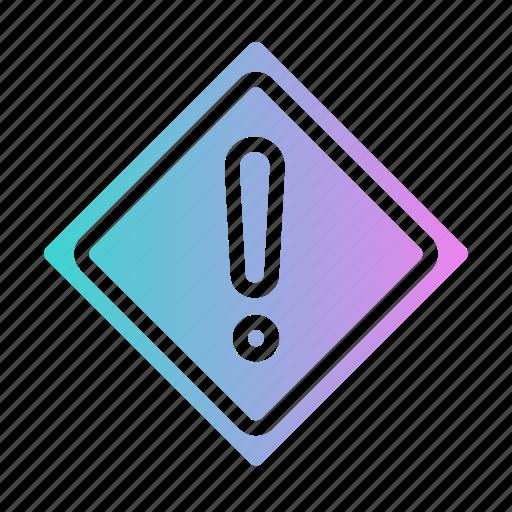 alert, sign, traffic, warning icon