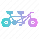 bicycle, romantic, sport, tandem, transport