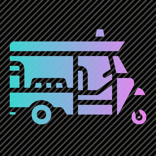 rickshaw, three, tuk, tuktuk, wheel icon
