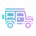 automobile, car, transport, van, vehicle icon