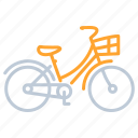 bicycle, cycling, transportation, travel icon